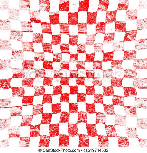 grunge red checkered - csp19744532
