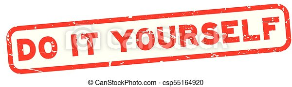 Grunge red do it yourself square rubber seal stamp on white grunge red do it yourself square rubber seal stamp on white background csp55164920 solutioingenieria Images
