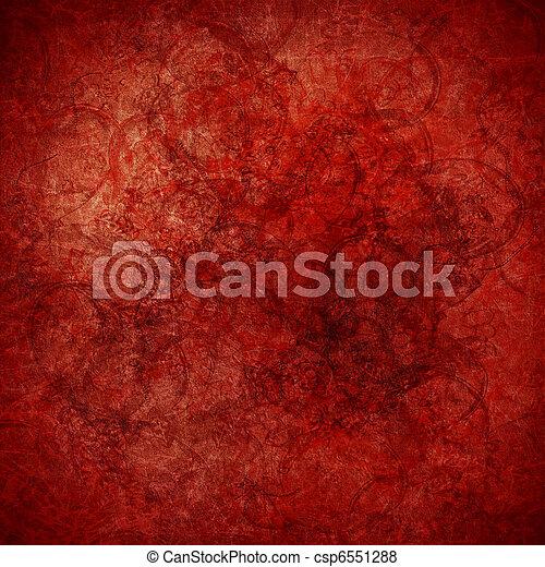 Grunge red highly textured art background - csp6551288
