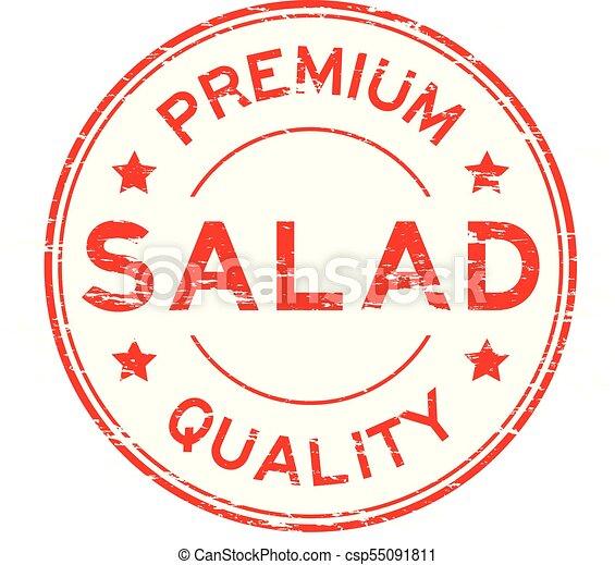 Grunge red premium quality salad round rubber stamp - csp55091811