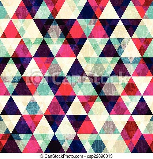 grunge red triangle seamless pattern - csp22890013