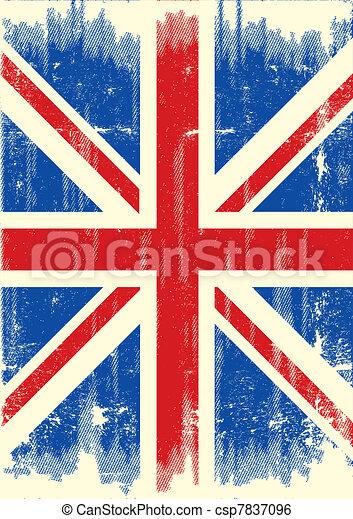 La bandera grunge del Reino Unido - csp7837096