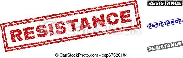 Grunge RESISTANCE Textured Rectangle Stamp Seals - csp67520184