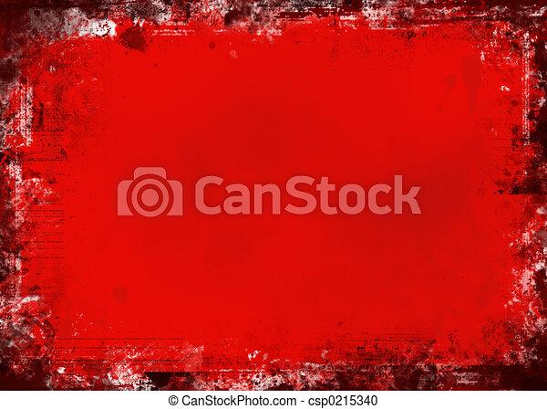 grunge, rood - csp0215340