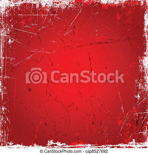 grunge, roter hintergrund - csp8527692