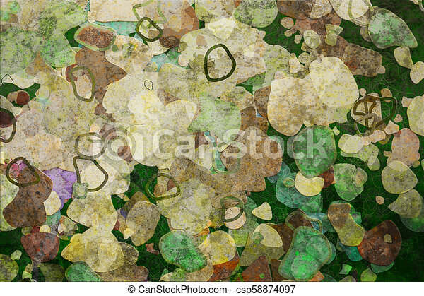 Grunge & rough. Abstract, canvas, repeat & creative. - csp58874097