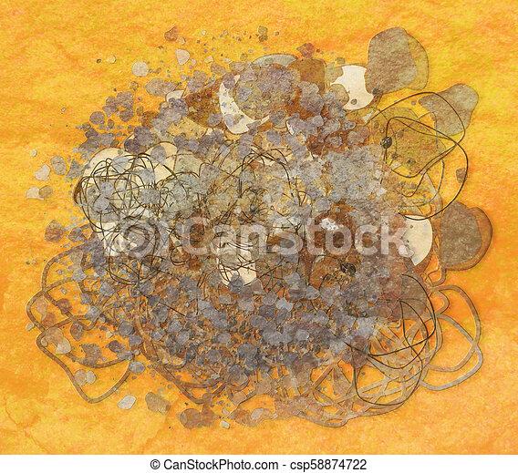 Grunge & rough. Backdrop, web, drawing & effect. - csp58874722
