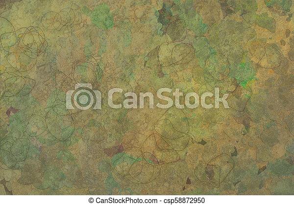 Grunge & rough. Canvas, details, art & abstract. - csp58872950
