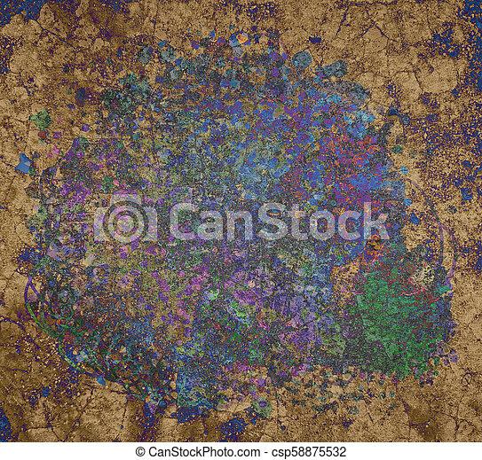 Grunge & rough. Concept, art, color & design. - csp58875532
