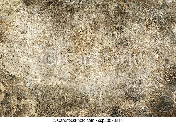 Grunge & rough. Decoration, surface, pattern & backdrop. - csp58873214