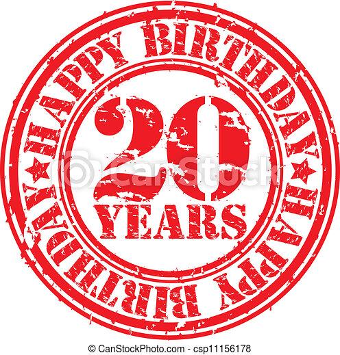 födelsedag 20 år Grunge, rubb, år, födelsedag, 20, lycklig. 20, stämpel, födelsedag  födelsedag 20 år