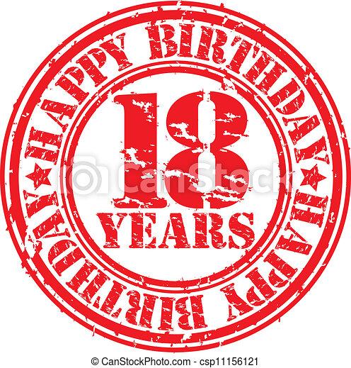 födelsedag 18 år Grunge, rubb, 18, år, födelsedag, lycklig. Grunge, 18, stämpel  födelsedag 18 år