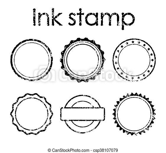 Grunge rubber stamp set - csp38107079