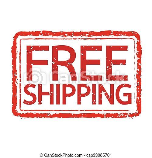 grunge rubber stamp text free shipping Illustration symbol design - csp33085701