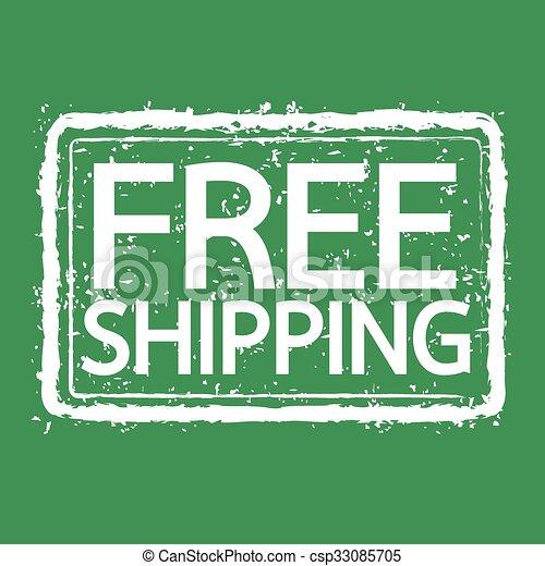 grunge rubber stamp text free shipping Illustration symbol design - csp33085705