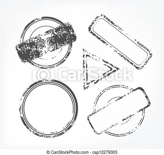 Grunge rubber stamp - csp12279303
