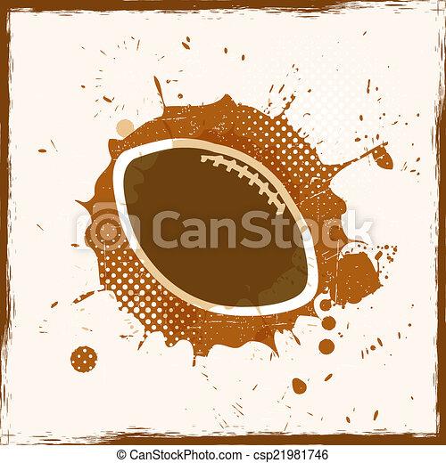 grunge, rugby, sale - csp21981746