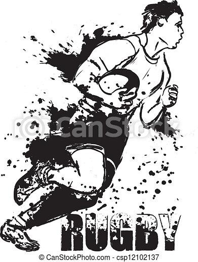 grunge, rugby - csp12102137