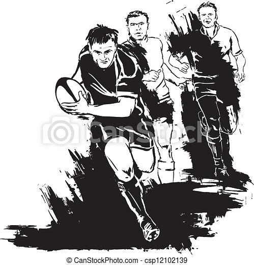 grunge, rugby - csp12102139
