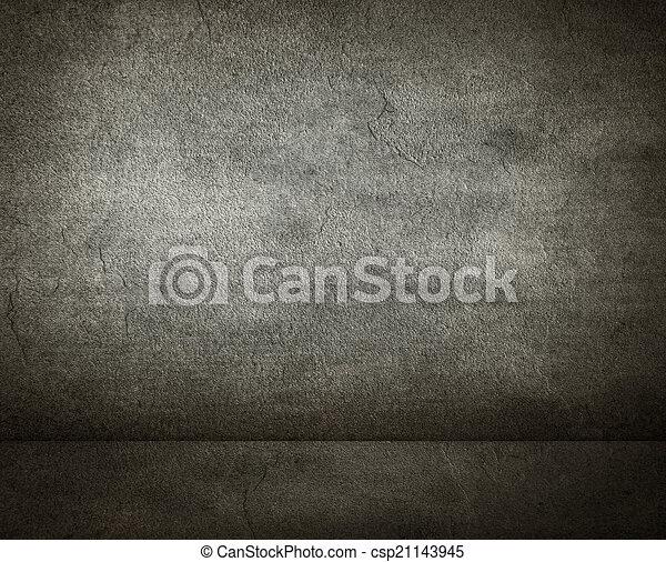 grunge, rum, bakgrund - csp21143945