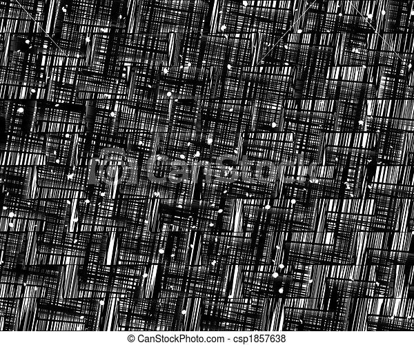 Grunge Scratch Pattern Texture Of Abstract Black Scratches On White
