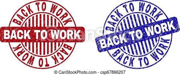 grunge, selo, trabalho, costas, selos, textured, redondo - csp67866207