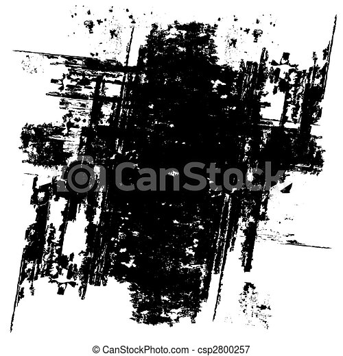 grunge, sfondo nero, (vector) - csp2800257