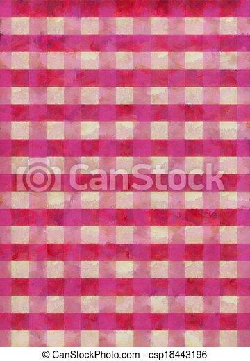 Grunge Shabby Chic Gingham Pattern - csp18443196