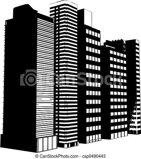 Grunge skyscrapers - csp0490443