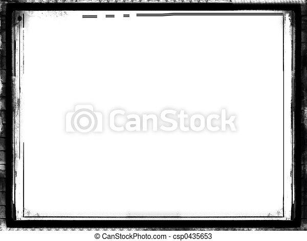 grunge, sopra, bordo, bianco - csp0435653