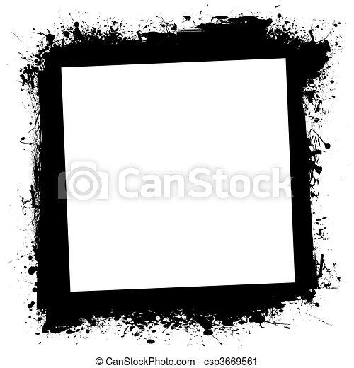 grunge splat ink frame - csp3669561