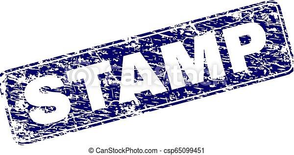Grunge STAMP Framed Rounded Rectangle Stamp - csp65099451