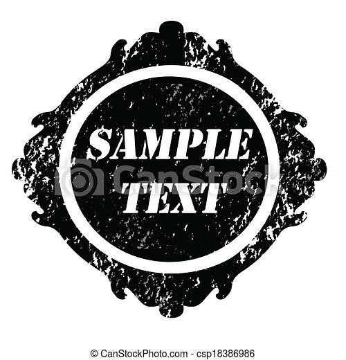 Grunge stamp vintage - csp18386986