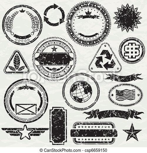 Grunge stams - csp6659150