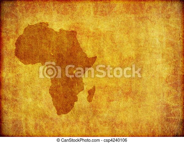 grunge, stanza, testo, fondo, africano, continente - csp4240106