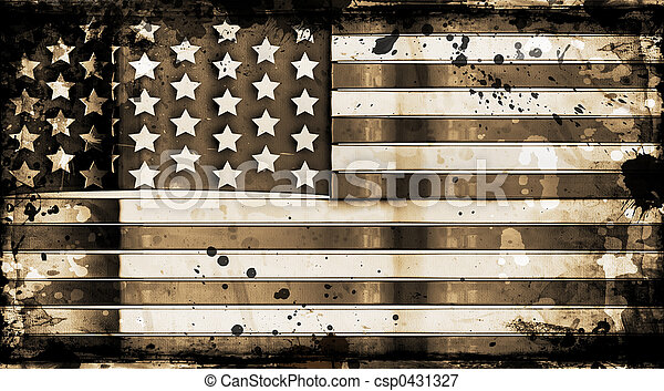 Grunge stars and stripes - csp0431327