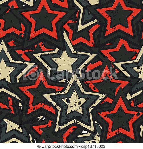 grunge stars seamless - csp13715023