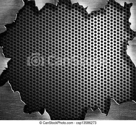 grunge steel metal background - csp13586273