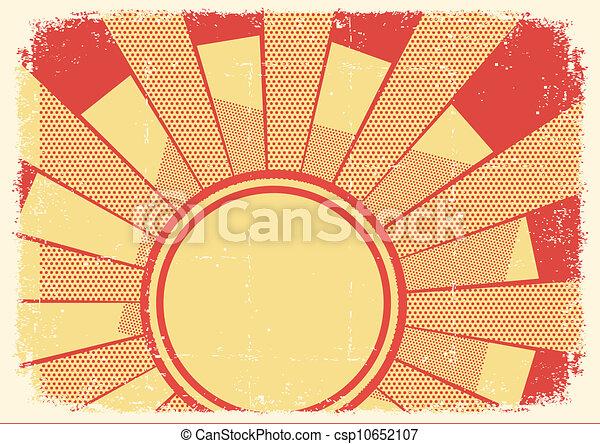 grunge, struktura, tło, kartony, światło słoneczne - csp10652107