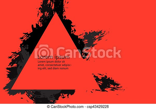 Grunge style Halloween background with blood splats - csp43429228