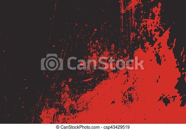Grunge style Halloween background with blood splats - csp43429519