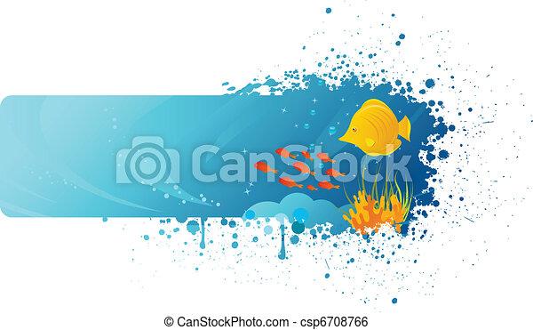 La bandera submarina - csp6708766