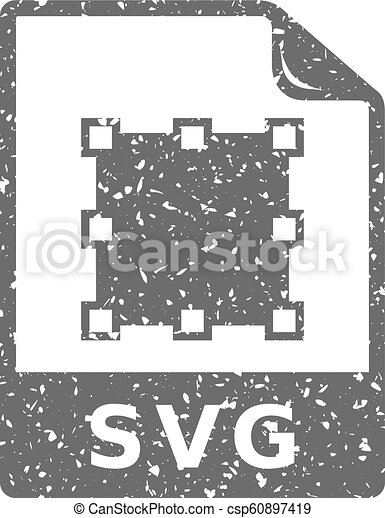 grunge, svg, -, bestand, pictogram - csp60897419