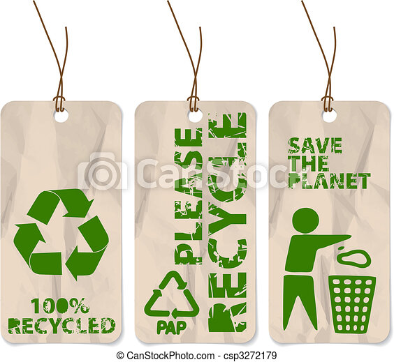 grunge tags for recycling - csp3272179