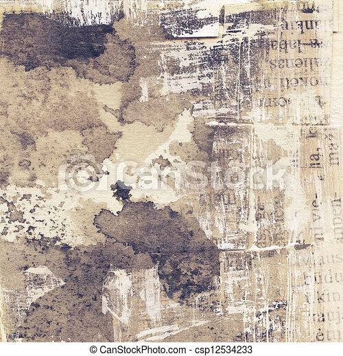 La textura de la suciedad - csp12534233