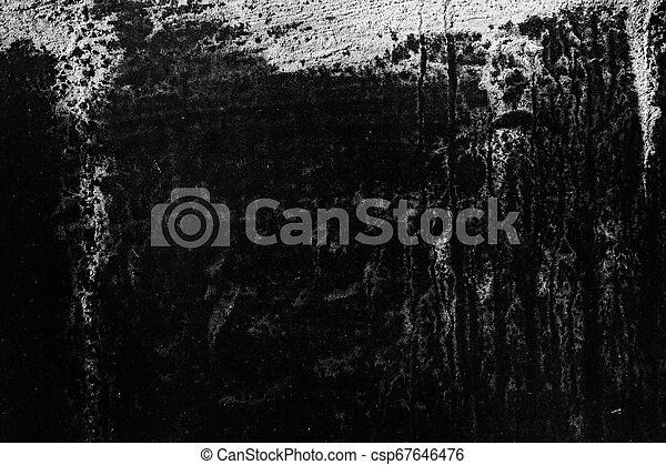 Grunge texture, black and white abstract background - csp67646476