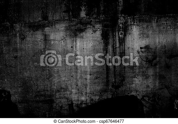 Grunge texture, black and white abstract background - csp67646477