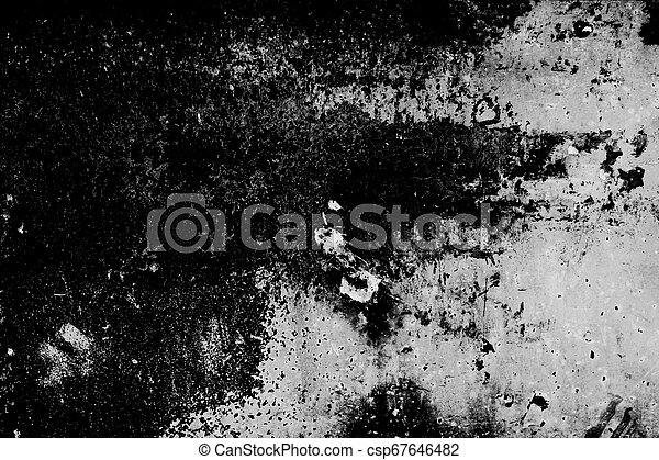 Grunge texture, black and white abstract background - csp67646482