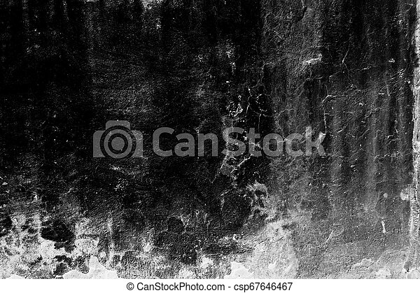 Grunge texture, black and white abstract background - csp67646467
