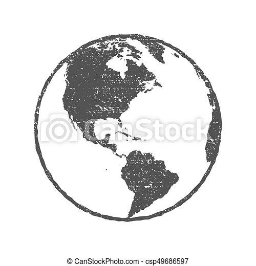 Grunge texture gray world map globe transparent vector illustration gumiabroncs Choice Image